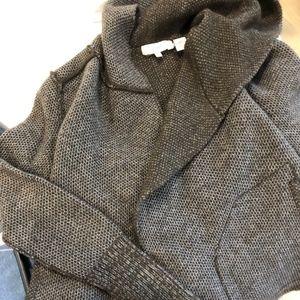 Inhabit cozy mohair/wool hooded cardigan